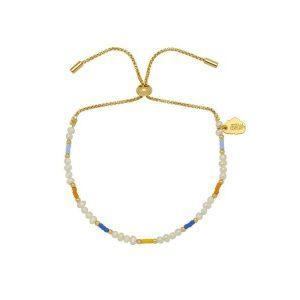 Estella Bartlett pearl & colour pop beaded slider bracelet