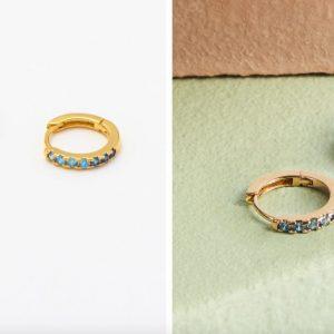 Estella Bartlett Ombre Blue CZ hoop earrings