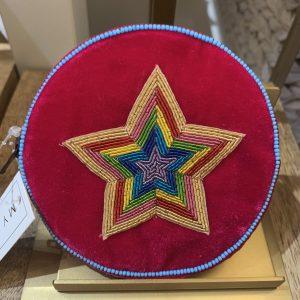 Fuschia star velvet coin purse