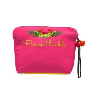 Frida Kahlo makeup pouch