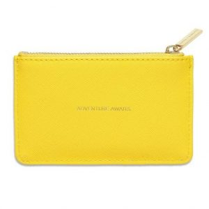 Rectangle card purse yellow- Adventure awaits