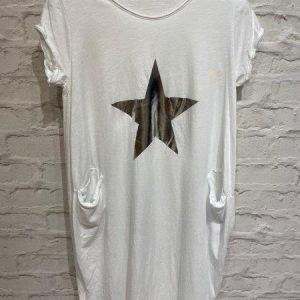White star t.shirt dress