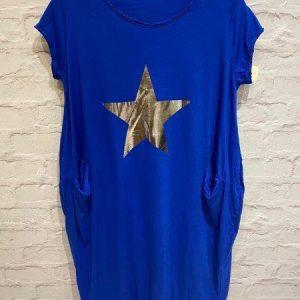 Blue star t.shirt dress