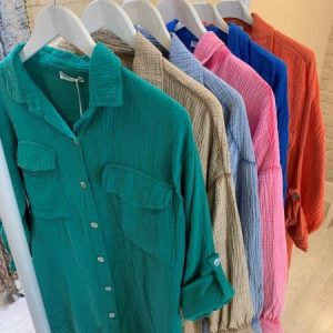 Cheesecloth shirt in 6 colours