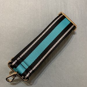 Bag strap turquoise stripe