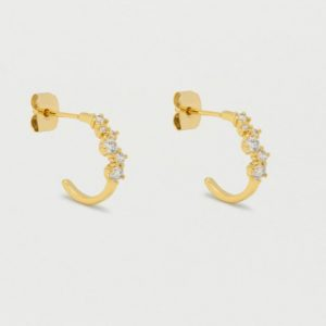 Gold constellation CZ hoops