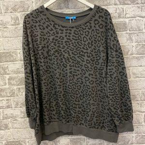 Grey leopard sweatshirt
