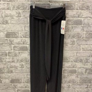 Grey micropleat trousers