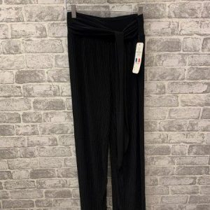 Black micropleat trousers