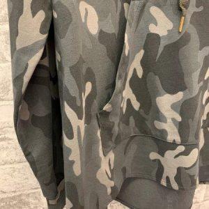 Grey camo oversized hoodie