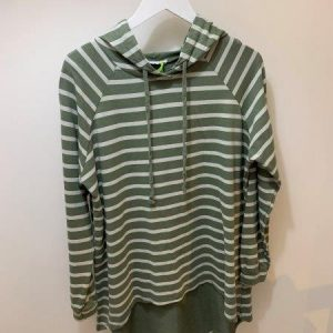 Striped oversized hoodie in 4x colours