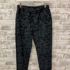 Grey leopard magic trousers