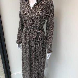 Black & white leopard shirt dress