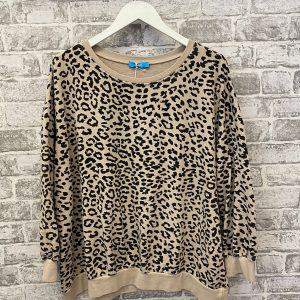 Beige leopard sweatshirt