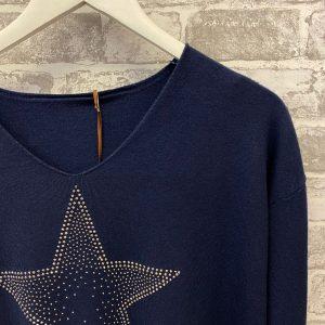 Blue navy star sweater