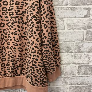 Pink leopard sweatshirt