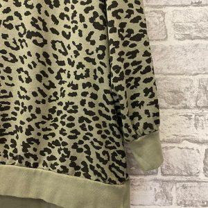 Green khaki leopard sweatshirt
