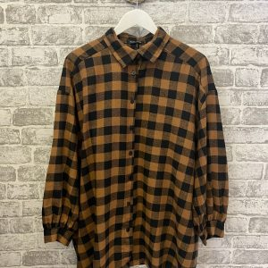 Brown & black oversized shirt