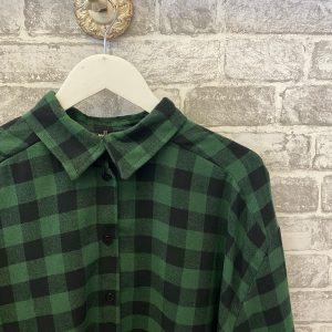 Green & black oversized shirt