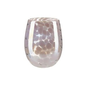 Water glass with dots in soft rose