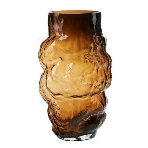Brown large organic shaped vase