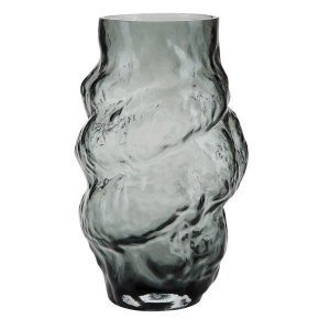 Grey large organic shaped vase