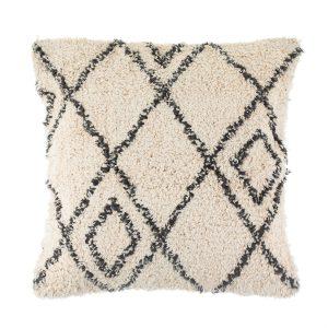 Berber style diamonds tufted cushion