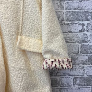 Cream hooded star jacket