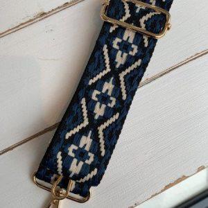 Bag strap blue aztec