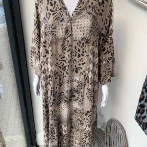 Mocha autumnal maxi dress