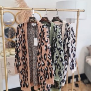 Mohair Leopard Cardi