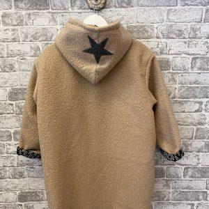 Beige hooded star jacket