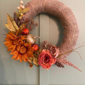 Autumnal Front Door Wreath