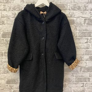 Black star hooded jacket