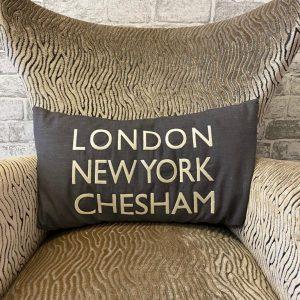 Chesham grey cushion