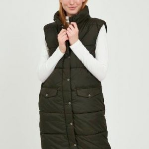 B.young longline gilet in black