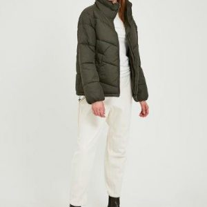B.young short puffa jacket in black