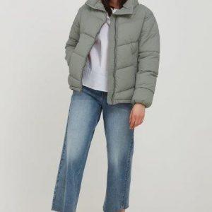 B.young short puffa jacket in green