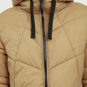 B.young tan puffa coat