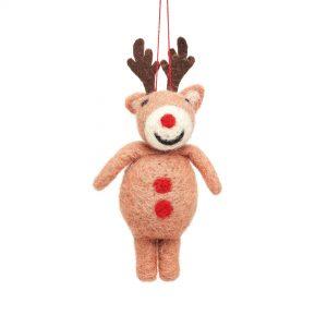 Rudolph felt decoration
