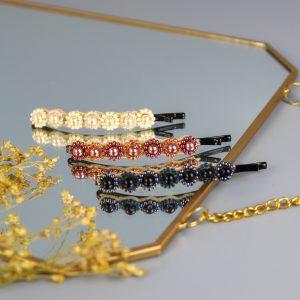 Copper triple hair clip set
