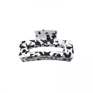 Black & white tortoise shell claw clip