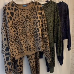 Leopard print two piece in 3x colours