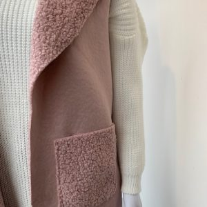 Pink Borg lined two pocket waistcoat